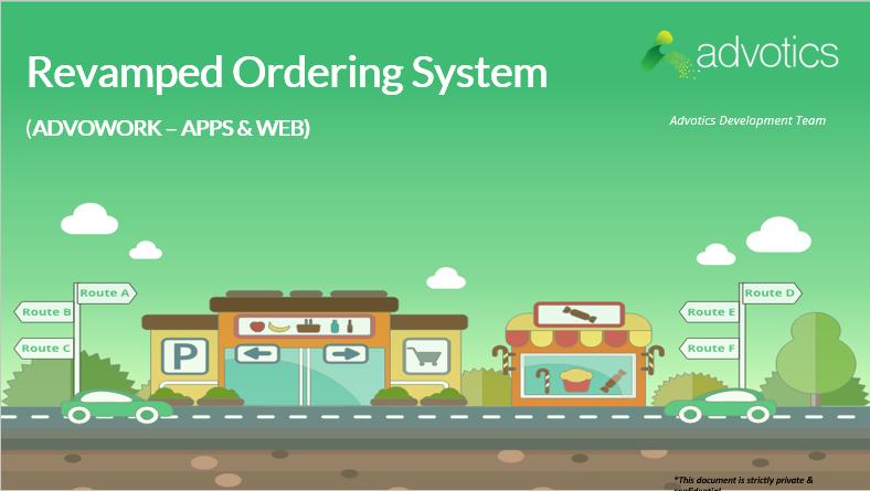 RN revamped ordering system