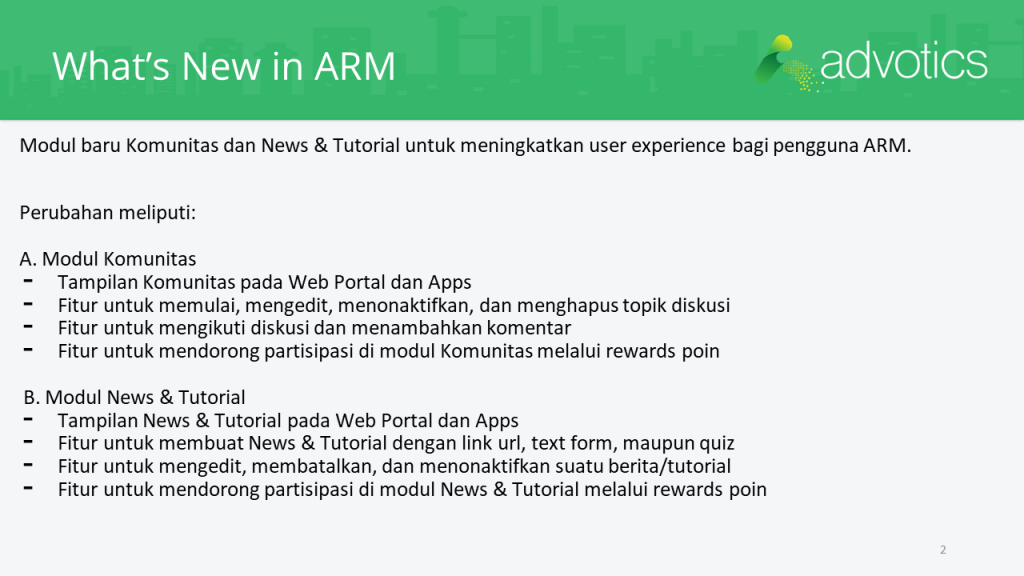 RN whats new in ARM