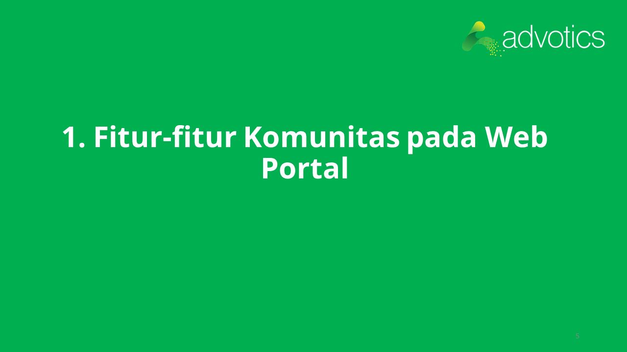 RN fitur komunitas web portal