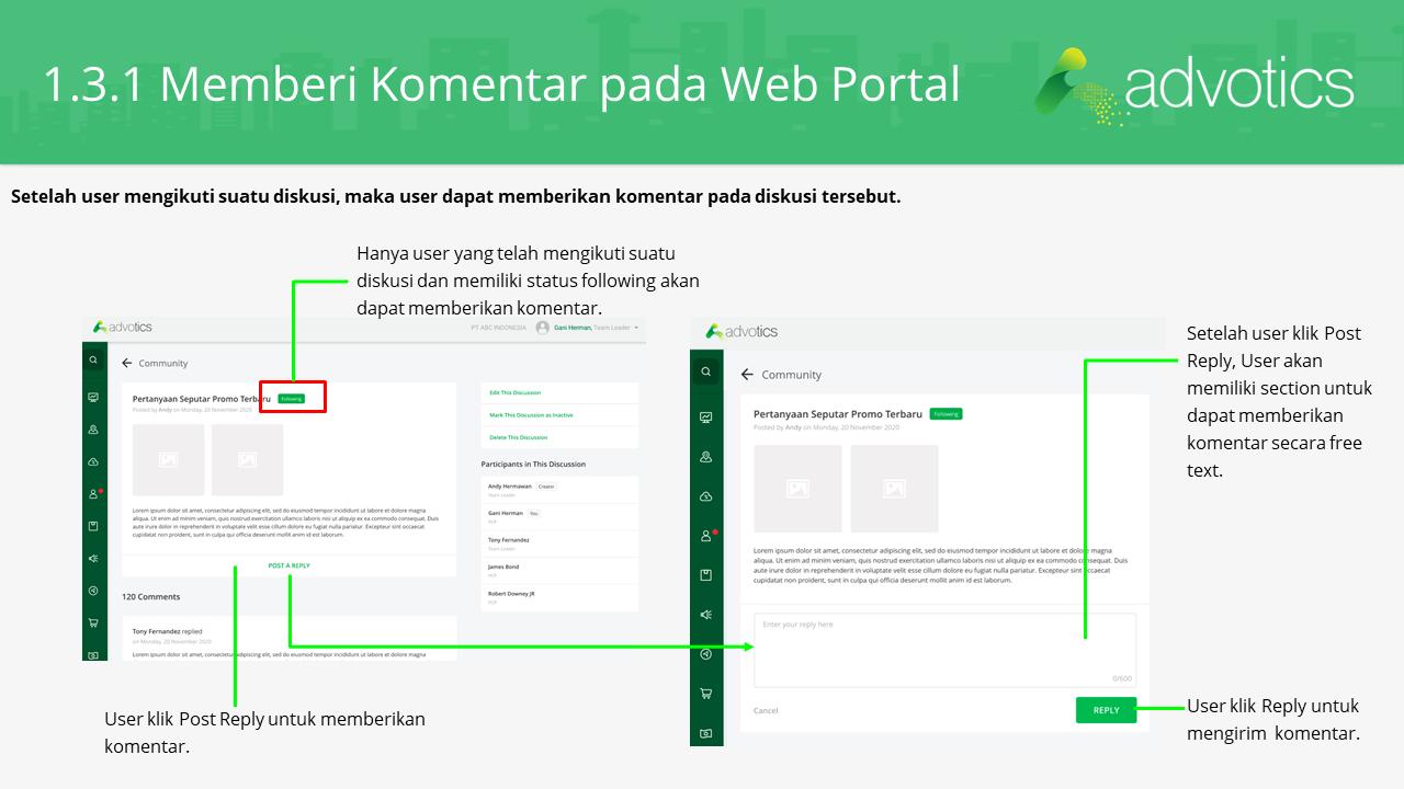 RN fitur komentar web portal