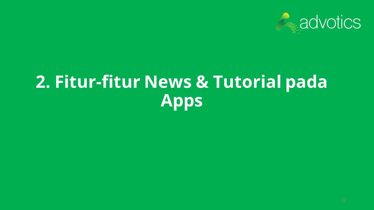 RN fitur news dan tutorial pada apps