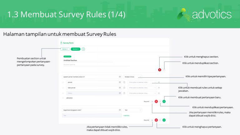 RN membuat survey rules