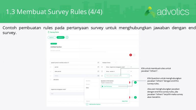 RN membuat survey rules