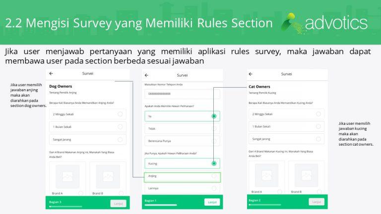 RN mengisi survey memiliki rules