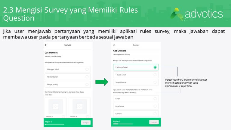 RN mengisi survey memiliki rules question