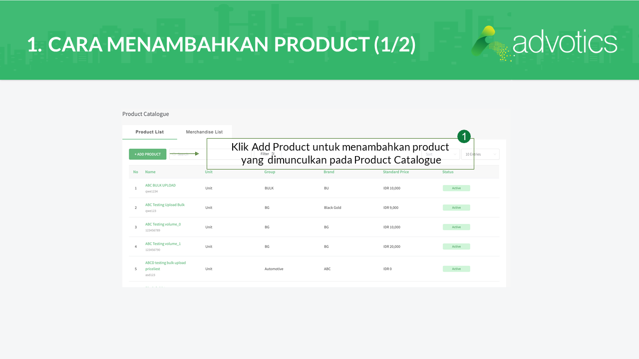 product catalogue advowork