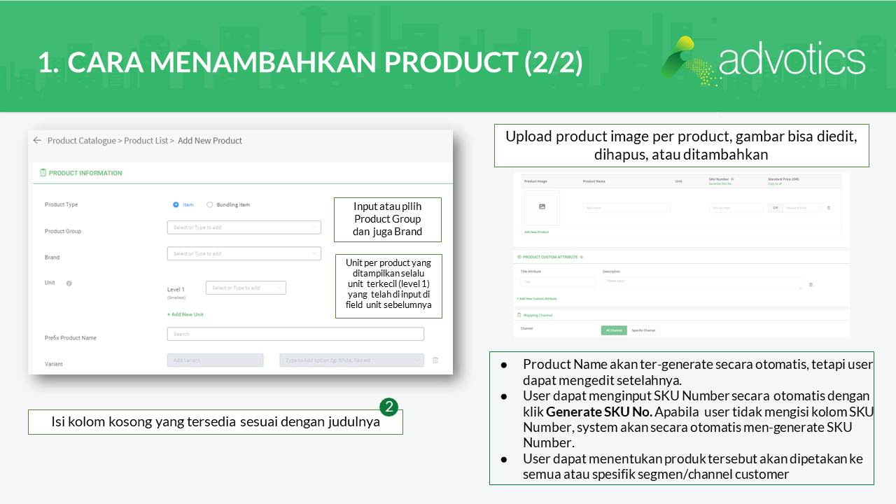 RN Advowork product catalogue
