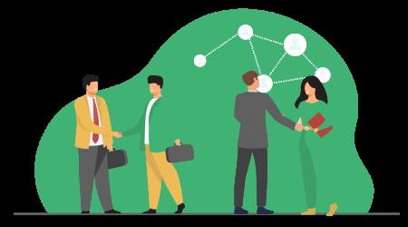 Target penjualan sukses dengan jaringan luas